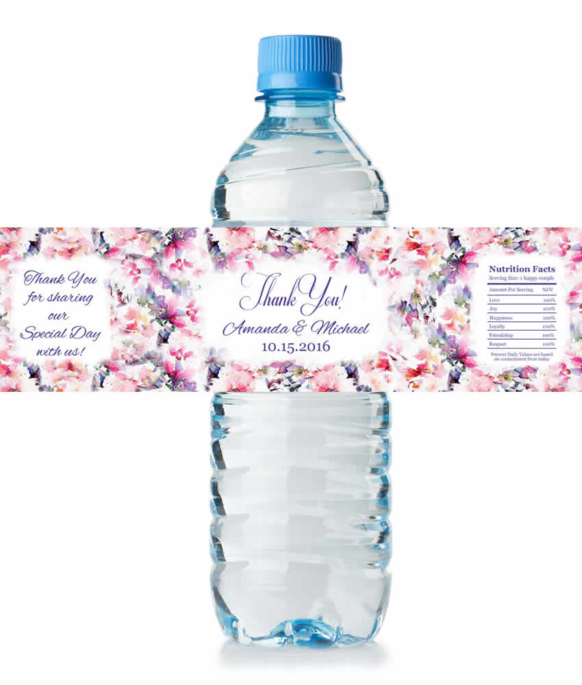 Water Bottle Name Tags: Arnold & Wessels